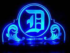 "Old English Letter Alphabet Word""D""Detroit Acrylic Led Lamp Light Vintage Stlye"