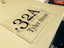 Acrylic perspex street name House Business Number Sign Plaque UV RESISTANT