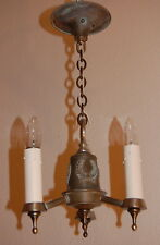 Colonial Brass Laurel Wreath Electric Candle Chandelier