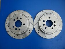 Ford Falcon BA-BF Rear Disc Rotors Slotted & Drilled XR6 XR8 with Brake Pads