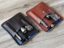 pocket organizer leather edc wallet leather edc organizer EDC wallet pouch slip