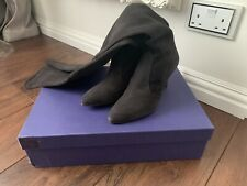 Womens stuart weitzman Black Over The Knee Pull On Boots Size 37.5