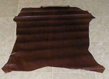 (Pie8688-1) Hide of Red Brown Reptile Print Lambskin Leather Hide Skin