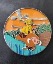 The Lion King Simba Cub Timon Pumba Fantasy Pin LE 35 Jumbo Stained Glass New