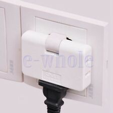 3 Outlet Grounded AC Power 2 Prong Swivel Light Wall Tap Adapter Travel White TW