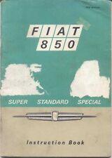 Fiat 850 Saloon & Special 1968-71 Original Owners Handbook No. 603.01.266