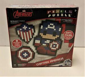 Marvel Avengers Captain American Pixels Puzzle 350 Pixels New