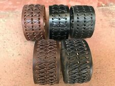 Leather Bracelet Punk Rock Unisex Wide Wrist Belt Wrap Cuff Wristband Bangle USA