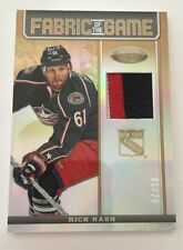 2012-13 Certified Fabric of the Game Rick Nash 3 Color JERSEY 1/25  FOG-RN