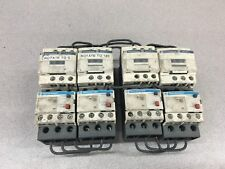 LOT OF 4 USED TELEMECANIQUE CONTACTORS LC1 D09 WITH RELAYS LRD 08