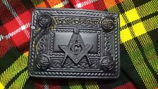 "69-91cm Masonic Embossed Kilt Belt /& Buckle Size M 36/"" 27/"""
