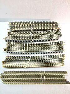 Lot of 50 HO Code 100 Brass Tracks: 40 18-Inch Radius Curve Track / 10 Straight
