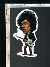 "Jimi Hendrix Small 3"" Sticker Cartoon/Caricature - Acid Guitar God of Woodstock"