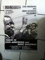 Louis Armstrong/Benny Goodman - Poster/Werbeplakat 80 er Jahre- 39x 57 cm