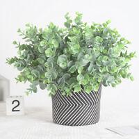 1pc Artificial Fake Leaf Eucalyptus Green Plant Silk Flowers Nordic Home Decor T
