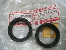 KAWASAKI NOS FORK SEAL SET  92049-1091 / -1245 KX125 1982 KXT250 Tecate 1986-87