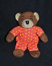 Peluche doudou petit ours brun BAYARD JEUNESSE salopette rouge pois Mini 12 Cm
