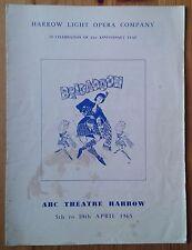 Brigadoon programme ABC Theatre Harrow Light Opera Company 1965 21st Anniversary