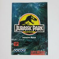 Jurassic Park (Super Nintendo, SNES) MANUAL Only Excellent