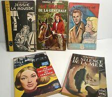 Lot de 5 livre de poche: sentimental, mystérieux, romantique, très bon état