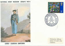 BRITISH FORCES NATIONAL ARMY MUSEUM MILITARY EVENT COVER-'72 EARLY GURKHA UNIFOR