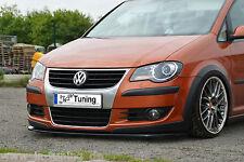 Spoilerschwert Frontspoiler Cuplippe aus ABS für VW Cross Touran 1T mit ABE