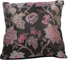 Black & Pink Wovern Brocade Cushion Cover Made in The UK