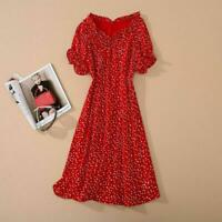 Hot sale Occident red enchanting french horn sleeve classical womens dress SMLXL