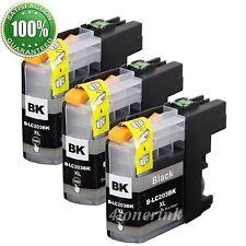 3PK LC-203BK XL Ink Cartridge For Brother MFC-J4620DW MFC-J4420DW MFC-J5520DW
