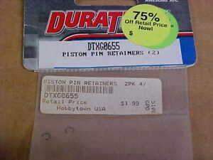 DURATRAX HARDWARE DTXG0655 = PISTON PIN RETAINERS (2)  (NEW)