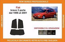 pellicola oscurante vetri fiat bravo 3 p dal 1996 al 2001 kit posteriore