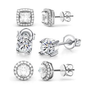 Set of 3 Pair Surgical Stainless Steel  Ear Piercing Multi-Shape Stud Earrings