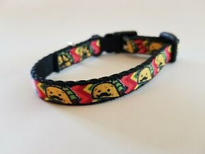 """Buckle-Down Dog Collar Plastic Clip Taco Man 1/2"""" Wide - Fits 6-9"""" Neck - Small"""