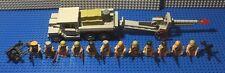 Custom Lego WW2 Russian M1938 artillery Piece with Cargo Truck & 12 Soldiers