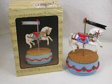 Vintage Enesco Carousel Horse Music Box Memories #551031 New In Box