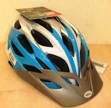 New Bell Dart Youth Adult Bike Bicycle Helmets Blue & White 53-60cm