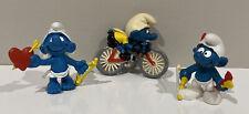 Vtg Smurf Cyclist Cupid Archer Bow And Arrow Figure