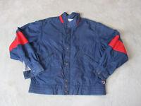 VINTAGE Fila Windbreaker Jacket Adult Medium Blue Red Full Zip Coat Mens 90s