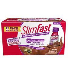 SlimFast Advanced Energy Creamy Chocola High Protein Shakes (11 fl. oz., 15 pk.)