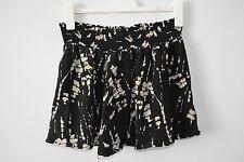 DECJUBA Silk A line circle Mini Skirt Black White Medium 10