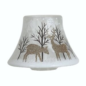 Aromatize Hand Crafted Candle Jar Shade - Gold Reindeer