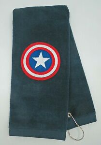 Personalized Embroidered Golf/Bowling Towel Captain America Avengers