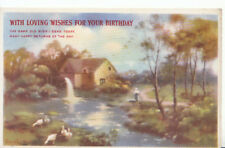 Greetings Postcard - With Loving Wishes for Your Birthday - Ref 464A