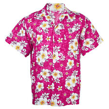 Hawaiian Shirt Aloha Hibiscus Chaba Leisure Beach Holiday Pink 3XL hg265p