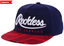 Young And Reckless Big R Blue Script Washed Snap Back Cap Hat Los Angeles New