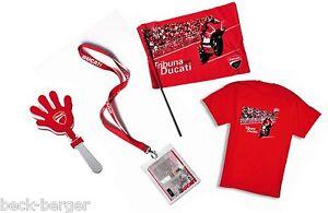 Ducati Fan Package Welcome Kit Moto Gp T-Shirt XL Flag Pass Holder Hand Clapper