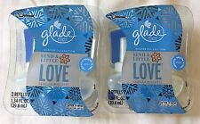 4 Glade Plugins Scented Oil Refills Holiday Send Love Pure Vanilla Biscotti (2)