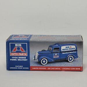 Spec Cast 1936 Dodge Panel Delivery Big A Auto Parts Die Cast Bank NIB