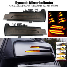 Pair Dynamic LED Door Mirrors Indicator Light For Mercedes Benz W246 W204 W212