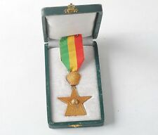 Haile Selassie  order of star military medal with original box lion of Judah